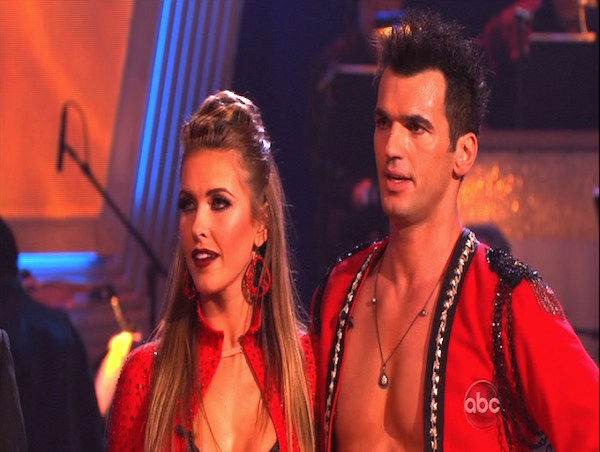 Audrina Patridge and Tony Dovolani perform on &#39;Dancing With the Stars,&#39; Monday, Oct. 25, 2010. The judges gave the couple 24 out of 30 for individual and 8 points for the dance marathon for a total of 32. <span class=meta>(KABC Photo)</span>