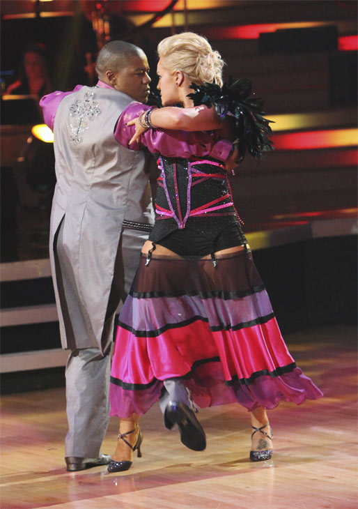 "<div class=""meta image-caption""><div class=""origin-logo origin-image ""><span></span></div><span class=""caption-text"">Kyle Massey and Lacey Schwimmer perform on 'Dancing With the Stars,' Monday, Oct. 25, 2010. The judges gave the couple 23 out of 30 for individual and 7 points for the dance marathon for a total of 30. (ABC/Adam Larkey)</span></div>"