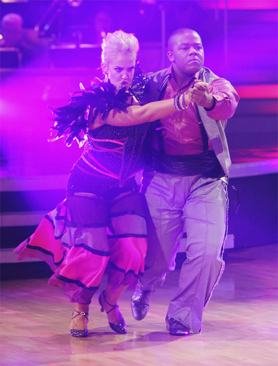 "<div class=""meta ""><span class=""caption-text "">Kyle Massey and Lacey Schwimmer perform on 'Dancing With the Stars,' Monday, Oct. 25, 2010. The judges gave the couple 23 out of 30 for individual and 7 points for the dance marathon for a total of 30. (ABC/Adam Larkey)</span></div>"