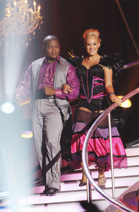 "<div class=""meta ""><span class=""caption-text "">Kyle Massey and Lacey Schwimmer on 'Dancing With the Stars,' Monday, Oct. 25, 2010. (ABC/Adam Larkey)</span></div>"