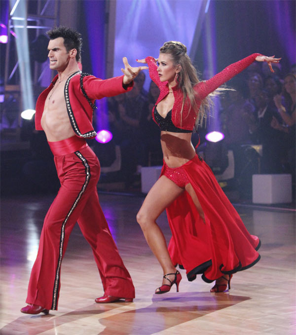 Audrina Patridge and Tony Dovolani perform on &#39;Dancing With the Stars,&#39; Monday, Oct. 25, 2010. The judges gave the couple 24 out of 30 for individual and 8 points for the dance marathon for a total of 32. <span class=meta>(ABC Photo&#47;Adam Larkey)</span>