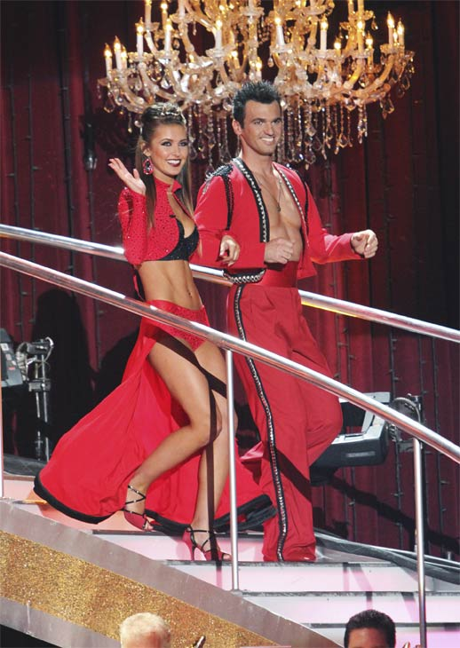 "<div class=""meta image-caption""><div class=""origin-logo origin-image ""><span></span></div><span class=""caption-text"">Audrina Patridge and Tony Dovolani on 'Dancing With the Stars,' Monday, Oct. 25, 2010. (ABC Photo/Adam Larkey)</span></div>"