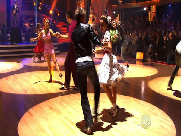 "<div class=""meta image-caption""><div class=""origin-logo origin-image ""><span></span></div><span class=""caption-text"">Stars and their professional partners perform for the dance marathon on 'Dancing With the Stars,' Monday, Oct. 25, 2010. (KABC Photo)</span></div>"