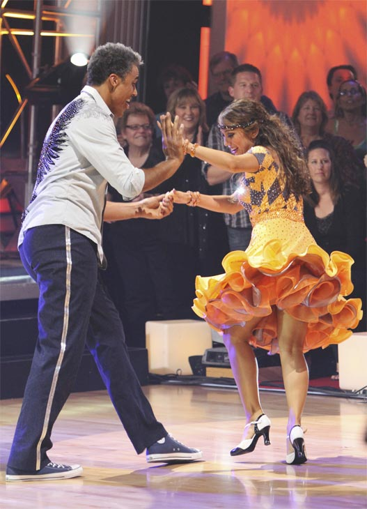 Rick Fox and Cheryl Burke perform during the dance marathon on &#39;Dancing With the Stars,&#39; Monday, Oct. 25, 2010. <span class=meta>(ABC Photo&#47;Adam Larkey)</span>