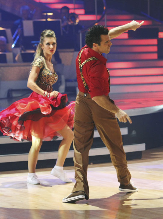 Audrina Patridge and Tony Dovolani perform during the dance marathon on &#39;Dancing With the Stars,&#39; Monday, Oct. 25, 2010. <span class=meta>(ABC Photo&#47;Adam Larkey)</span>