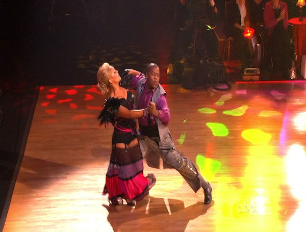 Kyle Massey and Lacey Schwimmer perform on &#39;Dancing With the Stars,&#39; Monday, Oct. 25, 2010. The judges gave the couple 23 out of 30 for individual and 7 points for the dance marathon for a total of 30. <span class=meta>(KABC Photo)</span>