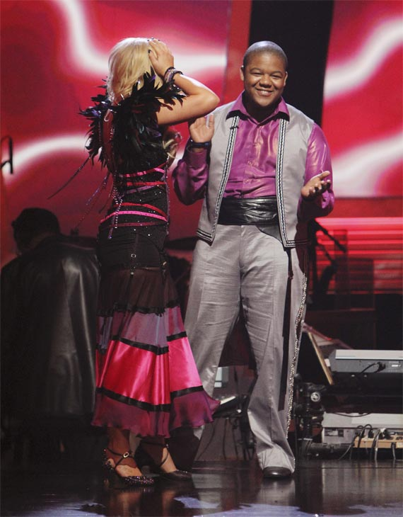 "<div class=""meta ""><span class=""caption-text "">Kyle Massey and Lacey Schwimmer react to being safe on 'Dancing With the Stars: The Results Show,' Tuesday, Oct. 26, 2010. The judges gave the couple 23 out of 30 for individual and 7 points for the dance marathon for a total of 30. (ABC Photo/Adam Larkey)</span></div>"