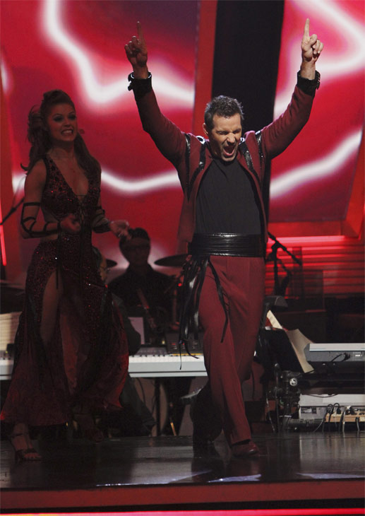 Kurt Warner and Anna Trebunskaya react to being safe on &#39;Dancing With the Stars: The Results Show,&#39; Tuesday, Oct. 26, 2010. The judges gave the couple 18 out of 30 for individual and 4 points for the dance marathon for a total of 22. <span class=meta>(ABC Photo&#47;Adam Larkey)</span>