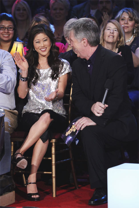 Host Tom Bergeron and former &#39;Dancing With the Stars&#39; champ Kristi Yamaguchi are seen on &#39;Dancing With the Stars: The Results Show,&#39; Tuesday, Oct. 26, 2010.  <span class=meta>(ABC Photo&#47;Adam Larkey)</span>