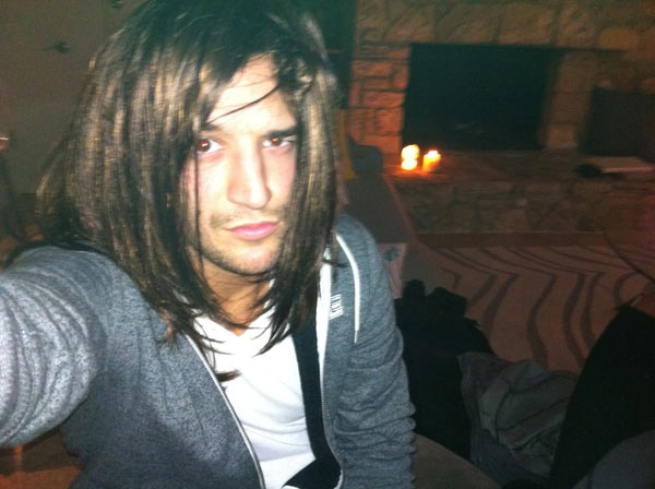 "<div class=""meta ""><span class=""caption-text "">'Dancing With the Stars' dancer Mark Ballas flaunts his Halloween wig. (ABC)</span></div>"