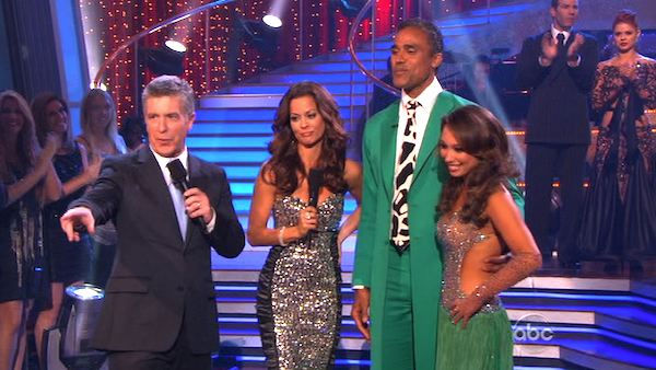 Rick Fox and Cheryl Burke react to being...