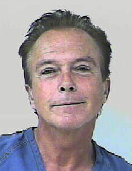In this undated photo provided by the Florida Highway Patrol, former &#39;Partridge Family&#39; heartthrob David Cassidy is shown. According to the Florida Highway Patrol, Cassidy&#39;s car was stopped around 6 p.m. Wednesday, Nov. 3, 2010, on the Florida Turnpike for weaving and nearly causing an accident. The FHP report states that Cassidy failed a field sobriety test, and breath tests at the St. Lucie County jail showed his blood-alcohol content at 0.139 and 0.141, above Florida&#39;s legal limit of 0.08.  <span class=meta>(Florida Highway Patrol)</span>
