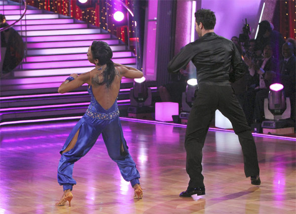 "<div class=""meta image-caption""><div class=""origin-logo origin-image ""><span></span></div><span class=""caption-text"">Brandy and Maksim Chmerkovskiy perform on 'Dancing With the Stars,' Monday, Nov. 8, 2010. The judges gave the couple 29 out of 30 for their waltz and 28 points out of 30 for their 'instant dance.' The couple earned a total of 57 out of 60.  (ABC Photo/Adam Larkey)</span></div>"