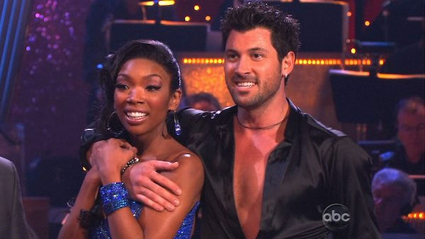 Brandy and Maksim Chmerkovskiy perform on...