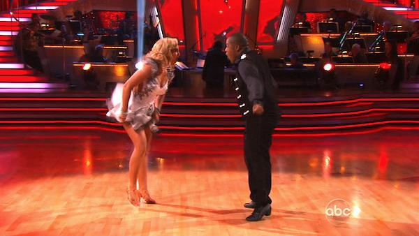 "<div class=""meta image-caption""><div class=""origin-logo origin-image ""><span></span></div><span class=""caption-text"">Kyle Massey and Lacey Schwimmer perform on 'Dancing With the Stars,' Monday, Nov. 8, 2010. The judges gave the couple 27 out of 30 for their Viennese waltz and 27 points out of 30 for their 'instant dance.' The couple earned a total of 56 out of 60.  (KABC Photo)</span></div>"