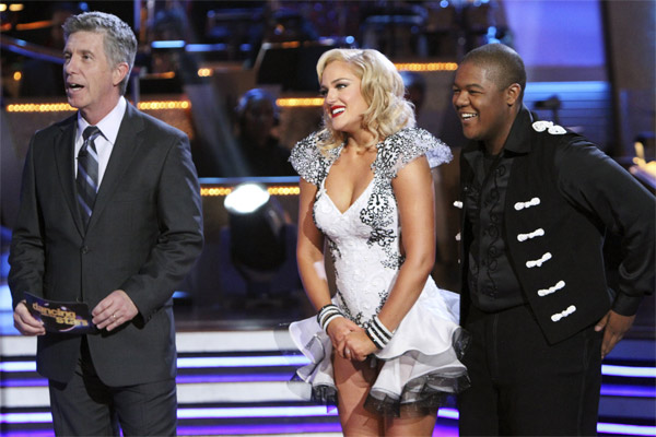 "<div class=""meta ""><span class=""caption-text "">Kyle Massey and Lacey Schwimmer perform on 'Dancing With the Stars,' Monday, Nov. 8, 2010. The judges gave the couple 27 out of 30 for their Viennese waltz and 27 points out of 30 for their 'instant dance.' The couple earned a total of 56 out of 60.  (ABC Photo/Adam Larkey)</span></div>"