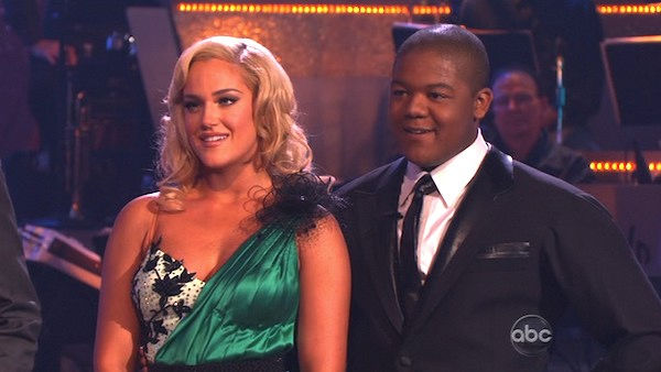 Kyle Massey and Lacey Schwimmer perform on 'Dancing With the Stars,' Monday, Nov. 8, 2010. The judges gave the couple 27 out of 30 for their Viennese waltz and 27 points out of 30 for their 'instant dance.' The couple earned a total of 56 out of 60.