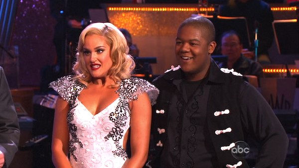 Kyle Massey and Lacey Schwimmer perform on &#39;Dancing With the Stars,&#39; Monday, Nov. 8, 2010. The judges gave the couple 27 out of 30 for their Viennese waltz and 27 points out of 30 for their &#39;instant dance.&#39; The couple earned a total of 56 out of 60.  <span class=meta>(KABC Photo)</span>