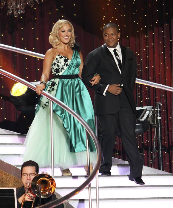 "<div class=""meta ""><span class=""caption-text "">Kyle Massey and Lacey Schwimmer on 'Dancing With the Stars,' Monday, Nov. 8, 2010. (ABC Photo/Adam Larkey)</span></div>"