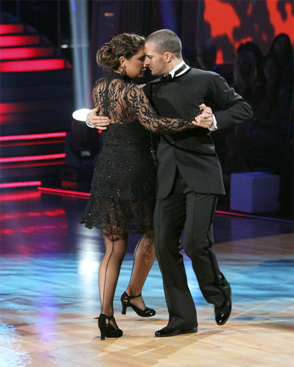 Bristol Palin and Mark Ballas perform on 'Dancing With the Stars,' Monday, Nov. 8, 2010. The judges gave the couple 24 out of 30 for their Argentine tango and 23 points out of 30 for their 'instant dance.' The couple earned a total of 48 out of 60.