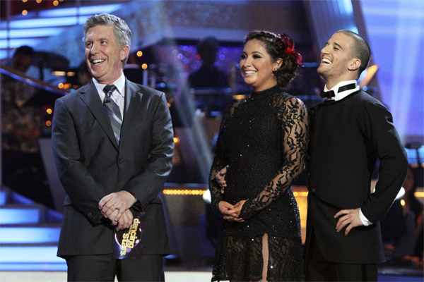 "<div class=""meta image-caption""><div class=""origin-logo origin-image ""><span></span></div><span class=""caption-text"">Bristol Palin and Mark Ballas perform on 'Dancing With the Stars,' Monday, Nov. 8, 2010. The judges gave the couple 24 out of 30 for their Argentine tango and 23 points out of 30 for their 'instant dance.' The couple earned a total of 48 out of 60.  (ABC Photo/Adam Larkey)</span></div>"