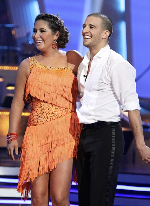 Bristol Palin and Mark Ballas perform on &#39;Dancing With the Stars,&#39; Monday, Nov. 8, 2010. The judges gave the couple 24 out of 30 for their Argentine tango and 23 points out of 30 for their &#39;instant dance.&#39; The couple earned a total of 48 out of 60.  <span class=meta>(ABC Photo&#47;Adam Larkey)</span>