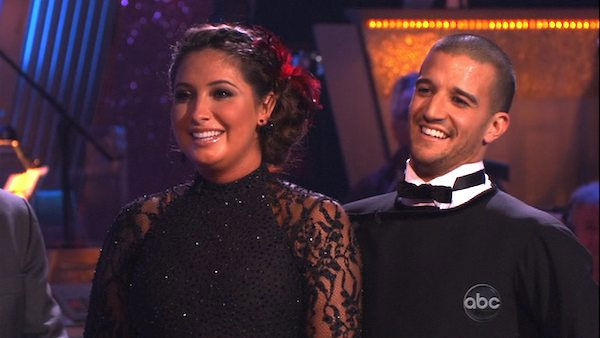 Bristol Palin and Mark Ballas perform on &#39;Dancing With the Stars,&#39; Monday, Nov. 8, 2010. The judges gave the couple 24 out of 30 for their Argentine tango and 23 points out of 30 for their &#39;instant dance.&#39; The couple earned a total of 48 out of 60.  <span class=meta>(KABC Photo)</span>