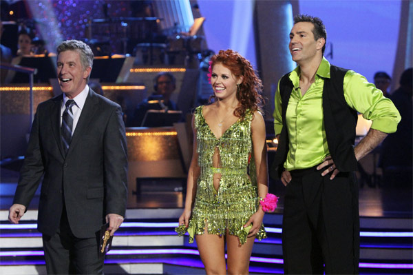 Kurt Warner and Anna Trebunskaya perform on 'Dancing With the Stars,' Monday, Nov. 8, 2010. The judges gave the couple 24 out of 30 for their waltz and 24 points out of 30 for their 'instant dance.' The couple earned a total of 48 out of 60.