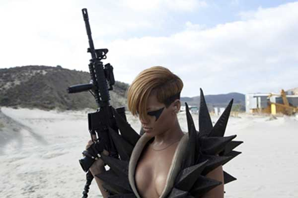 Rihanna will make her feature film debut in 2012's 'Battleship' which will also star Liam Neeson and 'True Blood' star Alexander Skarsgard. Rihanna will play a character named Raikes in the sci-fi action flick.