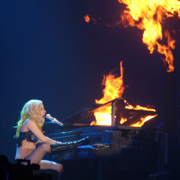 "<div class=""meta ""><span class=""caption-text "">At 4 years old Lady Gaga learned to play piano by ear and began composing her own ballads by the time she was 13. (Photo courtesy of flickr.com/photos/nellyfus)</span></div>"