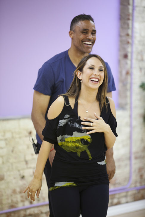 Rick Fox teams up with two-time champ Cheryl Burke, who is back for her tenth season.  The season 11 star-studded cast and their professional partners get ready to break in their dancing shoes on ABC&#39; &#39;Dancing With the Stars&#39; for the long awaited two-hour season premiere, Monday, September 20. <span class=meta>(ABC&#47;Greg Zabilski)</span>