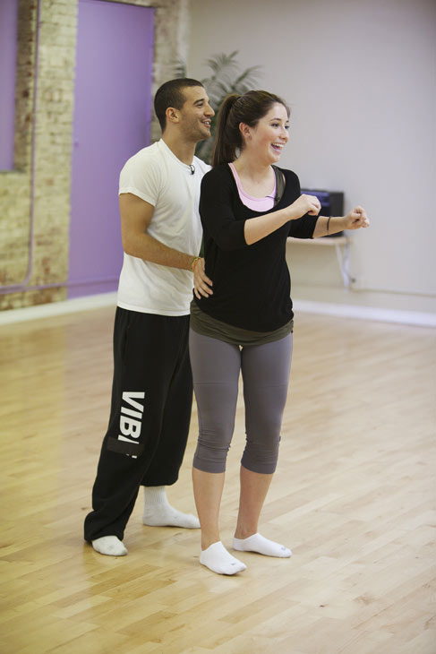 "<div class=""meta ""><span class=""caption-text "">Bristol Palin rehearses with two-time champ Mark Ballas, who is returning for his seventh season. (ABC/Greg Zabilski)</span></div>"