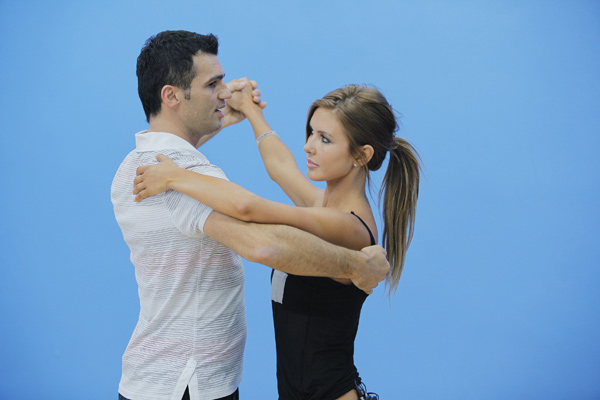 Audrina Patridge joins Tony Dovolani, who is back for his tenth season. The season 11 star-studded cast and their professional partners get ready to break in their dancing shoes on ABC&#39; &#39;Dancing With the Stars&#39; for the long awaited two-hour season premiere, Monday, September 20. <span class=meta>(ABC&#47;Greg Zabilski)</span>