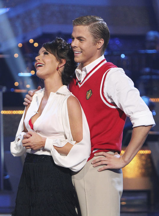 Jennifer Grey and Derek Hough perform on 'Dancing With the Stars,' Monday, Oct. 4, 2010. The judges gave the couple 24 points out of 30.