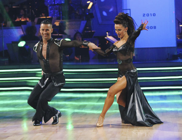 Mike 'The Situation' Sorrentino and Karina Smirnoff perform on 'Dancing With the Stars,' Monday, Oct. 4, 2010. The judges gave the couple 20 points out