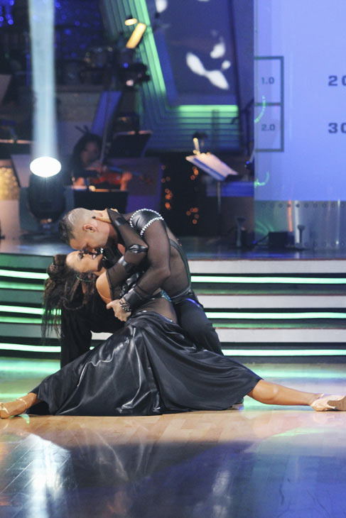 Mike 'The Situation' Sorrentino and Karina Smirnoff perform on 'Dancing With the Stars,' Monday, Oct. 4, 2010. The judges gave