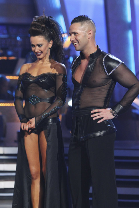 Mike 'The Situation' Sorrentino and Karina Smirnoff perform on 'Dancing With the Stars,' Monday, Oct. 4, 2010. The judges ga