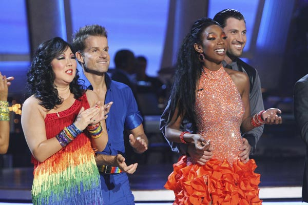 Margaret Cho, Louis van Amstel, Brandy, Maksim Chmerkovskiy are seen on 'Dancing With the Stars' on Monday, Oct. 4, 2010.