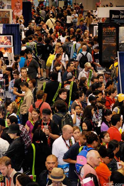 A view of the crowd at Comic-Con in San Diego during preview night, Wednesday, July 21, 2010.