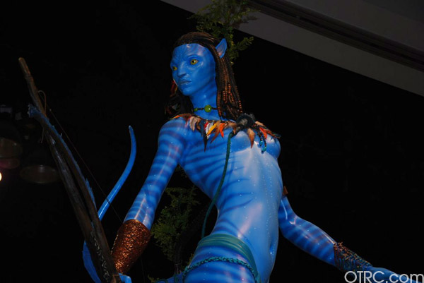 An 'Avatar' character is seen at Comic-Con in San Diego during preview night, Wednesday, July 21, 2010.