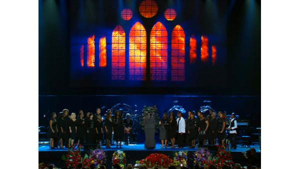 Image from the Michael Jackson Public Memorial Service