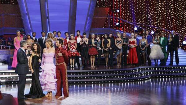 Kathy Ireland and Tony Dovolani on 'Dancing With the Stars: The Results Show', Sept. 29, 2009