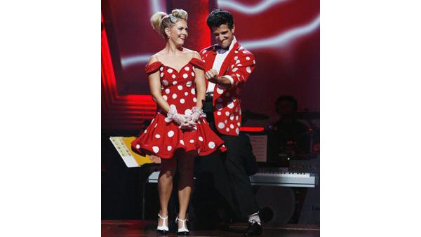 Melissa Joan Hart and Mark Ballas on 'Dancing With the Stars: The Results Show', Sept. 29, 2009
