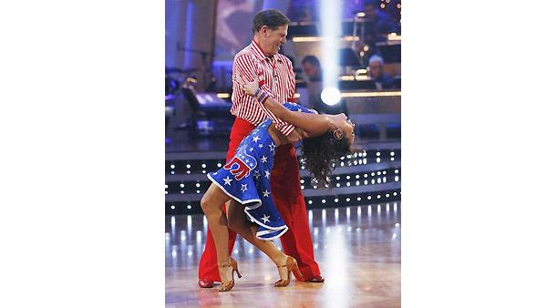 Tom DeLay, Cheryl Burke on 'Dancing With the Stars', Oct. 5, 2009