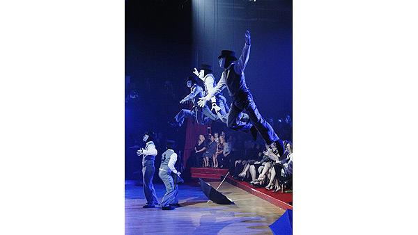 Mark Ballas, Lacey Schwimmer perform with JabbaWockeeZ, October 6, 2009