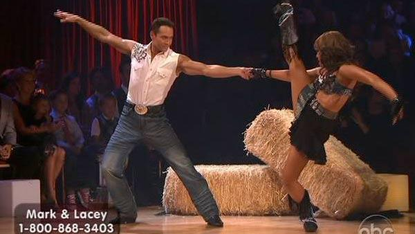 Mark Dacascos and Lacey Schwimmer perform on