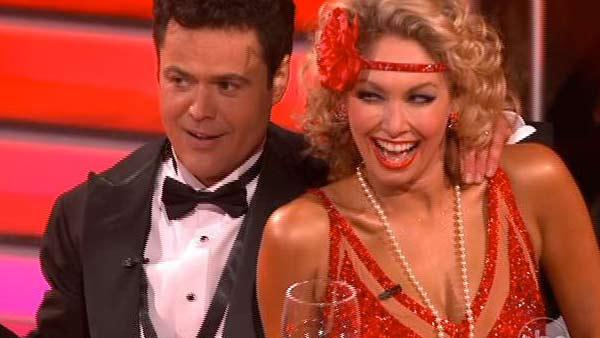 Donny Osmond and Kym Johnson perform on