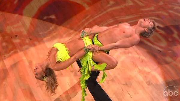 Joanna Krupa and Derek Hough perform on