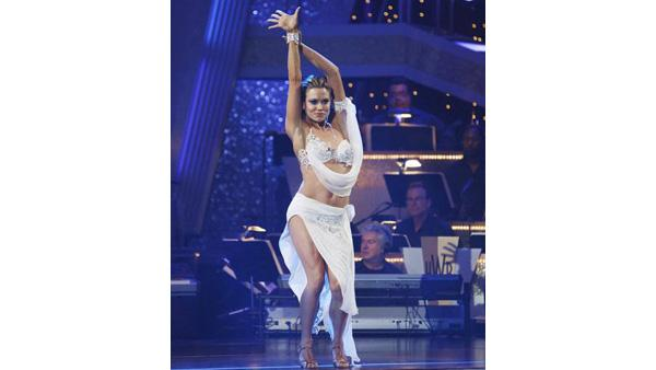 Natalie Coughlin and Alec Mazo perform during 'Dancing With the Stars,' Oct. 12, 2009