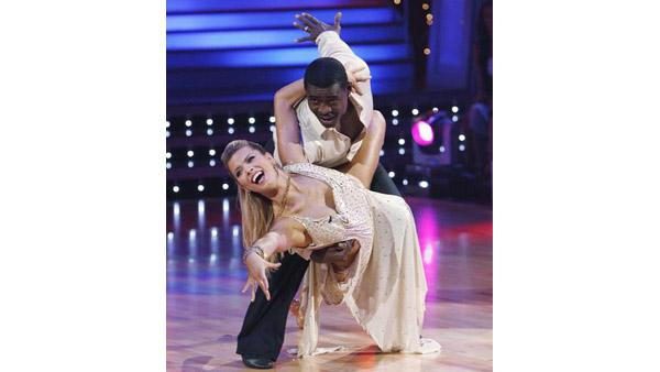 Michael Irvin and Anna Demidova perform during 'Dancing With the Stars,' Oct. 12, 2009